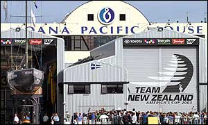 Team New Zealand unveil their America's Cup boat