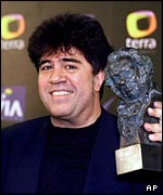 Almodovar with a Spanish Goya Award