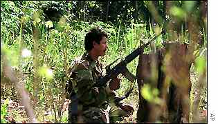 Armed FARC rebel