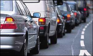 Traffic jam in London