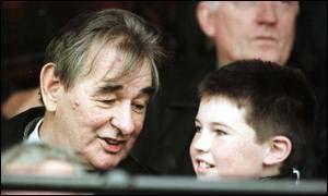 Brain Clough with his grandson