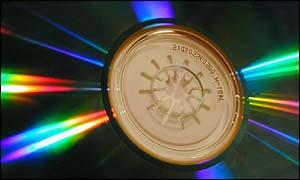 Close-up of CD, BBC
