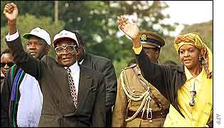 Robert Mugabe and his wife, Grace