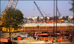 Connaught Place under redevelopment