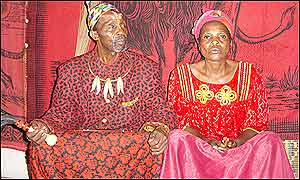 King Makoko and his wife