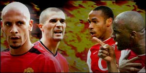 Rio Ferdinand and Roy Keane will be lining up against Thierry Henry and Patrick Vieira