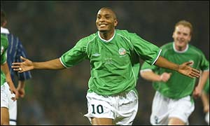 Clinton Morrison was on target for the Irish
