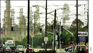 Exxon Mobil refinery in the US