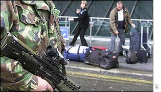 Troops at Heathrow airport