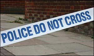 Police incident tape, BBC
