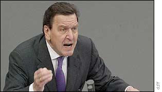 German Chancellor Gerhard Schroeder