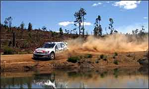 Marcus Gronholm at last year's Rally of Australia