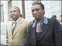 Tony Yengeni and his wife Lumka outside Cape Town court (Pic: Sunday Times of South Africa)