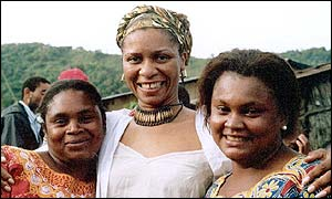 Beaula McCalla with her Equatorial Guinea relatives