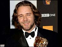 Actor Russell Crowe at the Bafta film awards in 2002