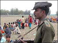 Refugees on the India-Bangladesh border
