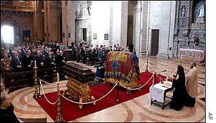 Service for Carol II in Lisbon cathedral