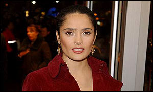 Salma Hayek arrives at the premi�re