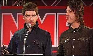 Oasis' Noel Gallagher (left) and Gem Archer