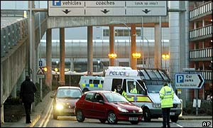 Police at Gatwick Airport