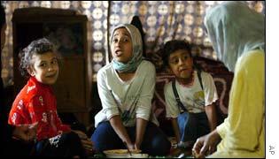Iraqi family in Baghdad