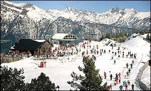Skiers in Andorra