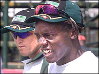 Andy Flower and Henry Olonga