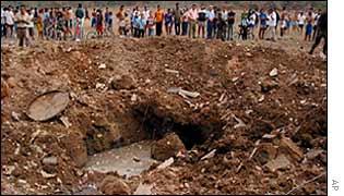 Blast crater