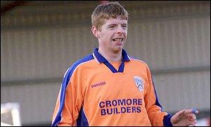Colelraine defender Paul Gaston