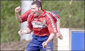 Ards striker Davy Rainey
