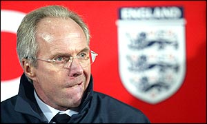 England coach Sven-Goran Eriksson