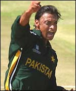Shoaib Akhtar takes another wicket against Namibia