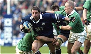 Bryan Redpath in action for Scotland