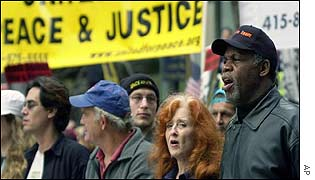 Danny Glover and Bonnie Raitt join SF protests