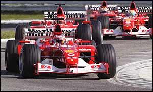 Ferrari parade their new cars