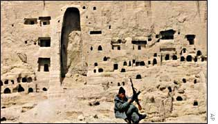The Bamiyan site after the destruction of the statues