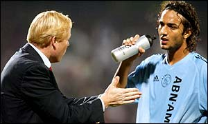 Ajax coach Ronald Koeman and Mido