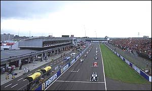 The starting grid at Silverstone