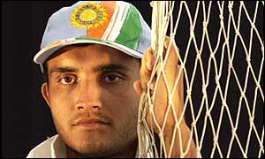 Indian captain Sourav Ganguly