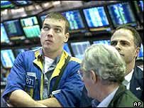 Traders on New York Stock Exchange