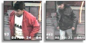 CCTV footage of the passengers