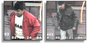 CCTV footage of the passengers