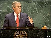 George W Bush at the UN