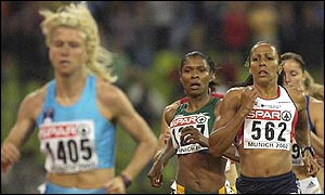 Jolanda Ceplak beats the rest of the field by a distance at the 2002 European Championships