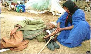 Iraqi Kurd refugees after the Gulf War
