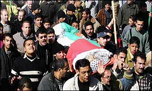Funeral for Firas Mbruki, Ayman Abu Zunt and Mohammed Takruri in Nablus on Monday