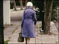 A pensioner walking