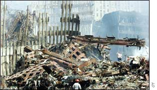 Ruins of World Trade Center