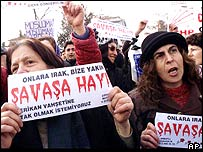 Turkish anti-war protesters