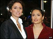 Julie Taymor and Salma Hayek
